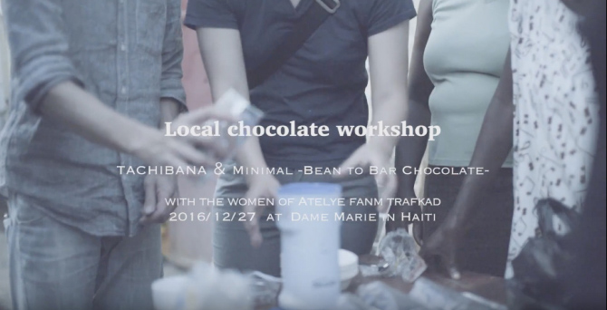 Local chocolate workshop in Haiti
